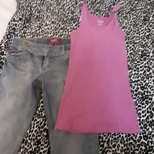 Mossimo tanktop and tyte Jean's outfit
